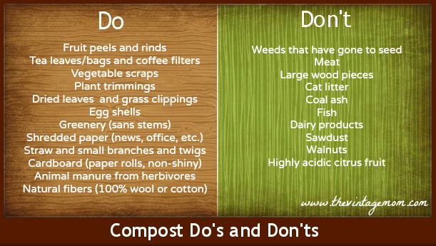 compost dos and donts